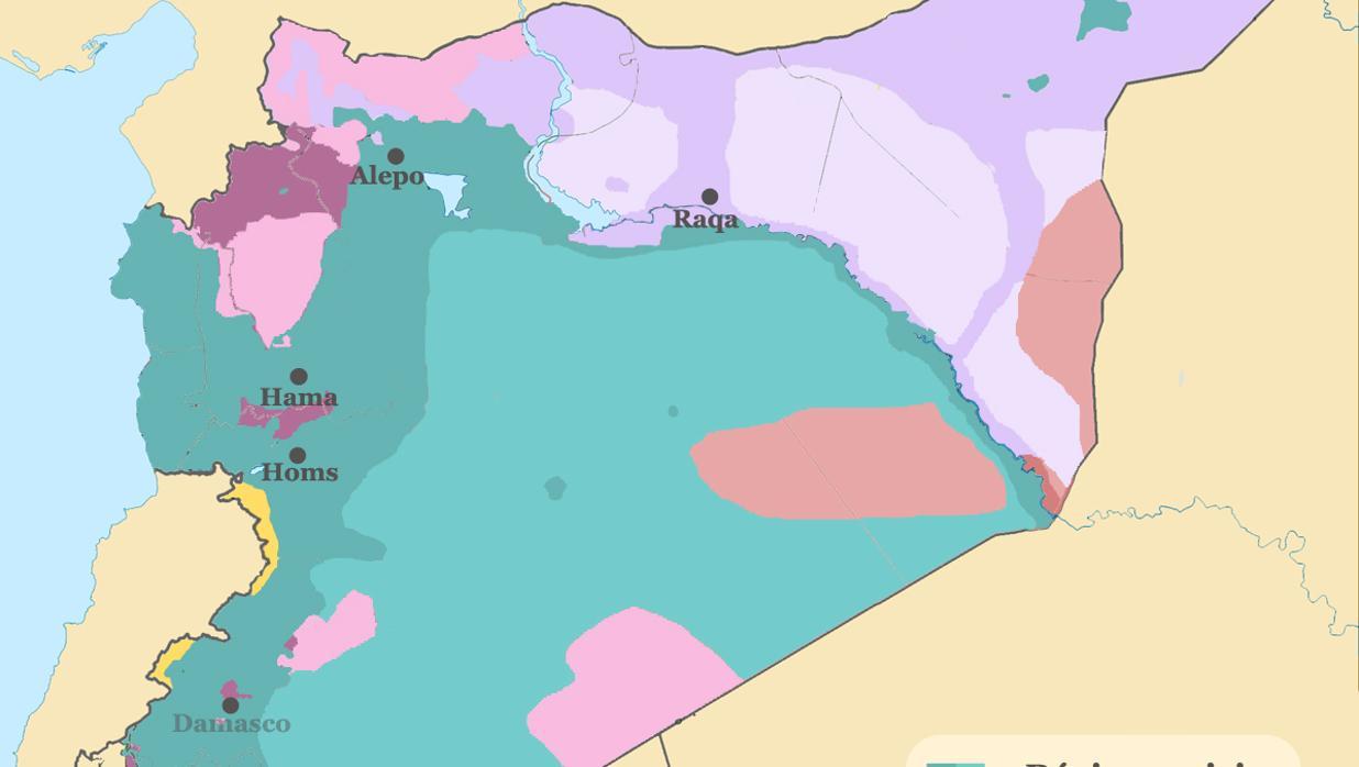 Aliados y enemigos en la guerra siria
