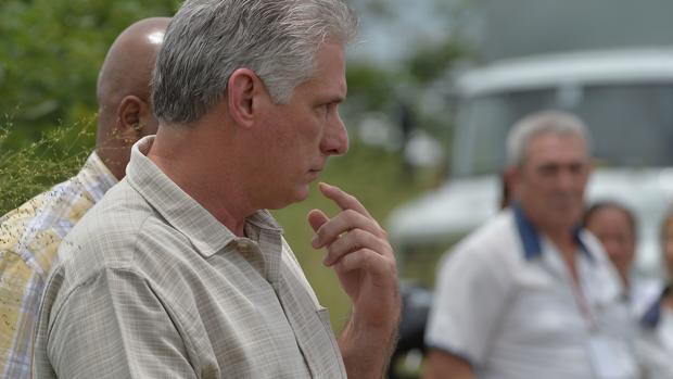 El presidente de Cuba, Díaz-Canel, se ha acercado al lugar de los hechos