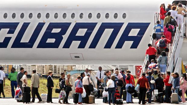 Un avión de la compañía Cubana de Aviación