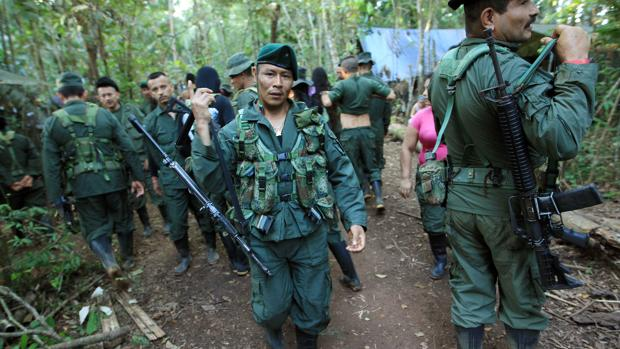 Guerrilleros del Bloque Sur de las FARC, en 2016