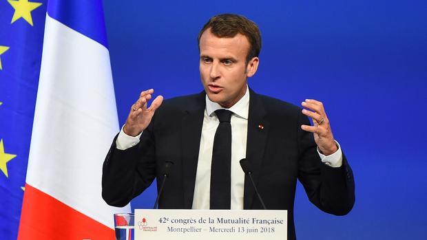 Macron en Monpellier durante un congreso