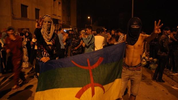 Protesta nocturna celebrada en la ciudad de Alhucemas