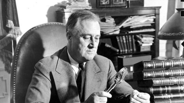Franklin D. Roosevelt era un apasionado de la filatelia y poseía una gran colección de sellos