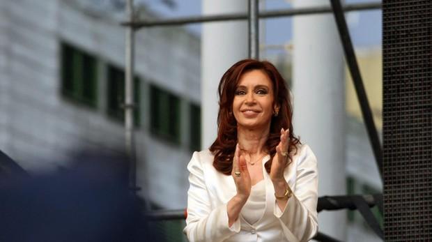 Cristina Fernándes Kirchner en un acto en Buenos Aires