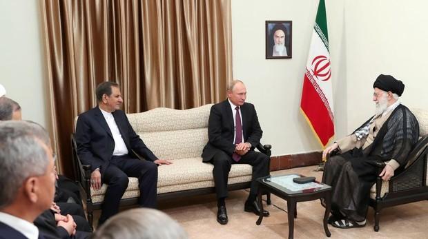 Erdogan, Putin y Rohaní durante la reunión de este viernes en Teherán, Irán