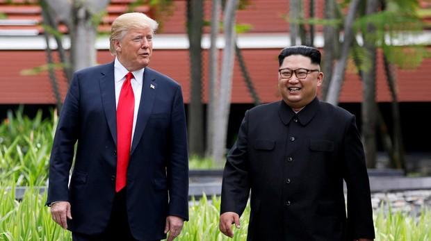 Donald Trump, presidente de los EEUU y Kim Jong Un, líder norcoreano