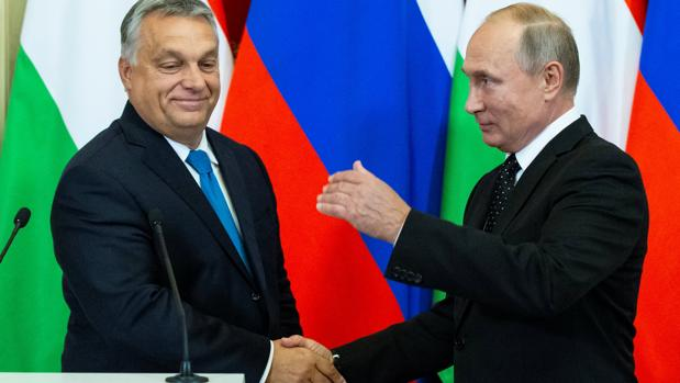 Resultat d'imatges de orbán putin