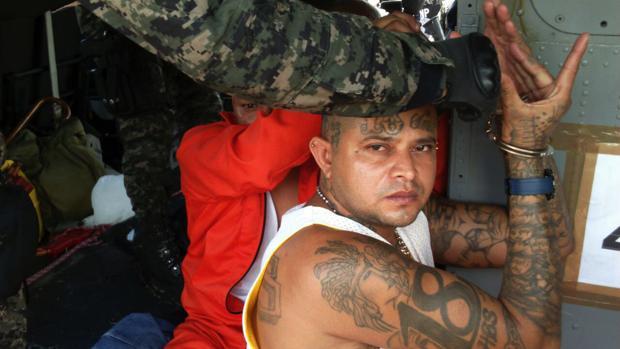 Miembros de la mara Barrio 18 Foto: AFP