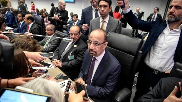 El ministro de Energía de Arabia Saudí, Khalid al-Falih antes del inicio de la 175º reunión ordinaria de la OPEP
