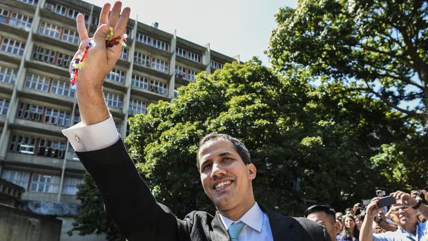 Juan Guaidó, este jueves en Caracas