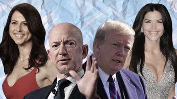 Donald Trump y Jeff Bezos