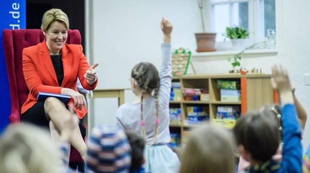 Franziska Giffey, en la Feria de Cuentos infantiles de Berlín en noviembre de 2018