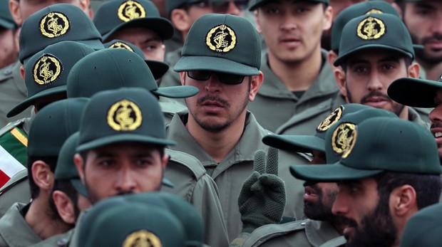 Efectivos de la Guardia Revolucionaria iraní