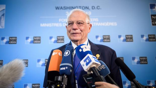 Josep Borrell, a su llegada a la cumbre de la OTAN