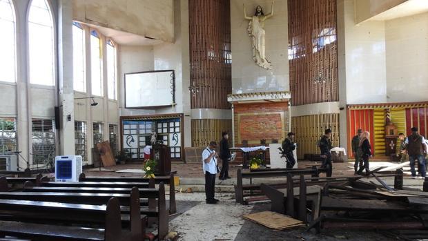 Una catedral en el sur de Filipinas, tras un ataque yihadista el pasado mes de enero