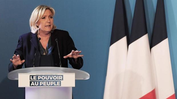 Marine Le Pen, este jueves durante un mitin