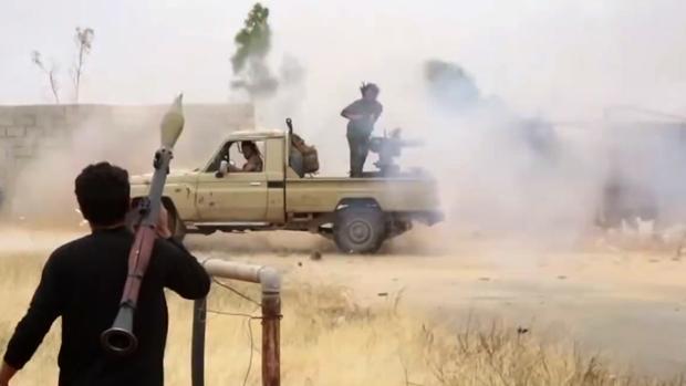 Una milicia del Ejército Nacional Libio, en un vídeo grabado el pasado mayo