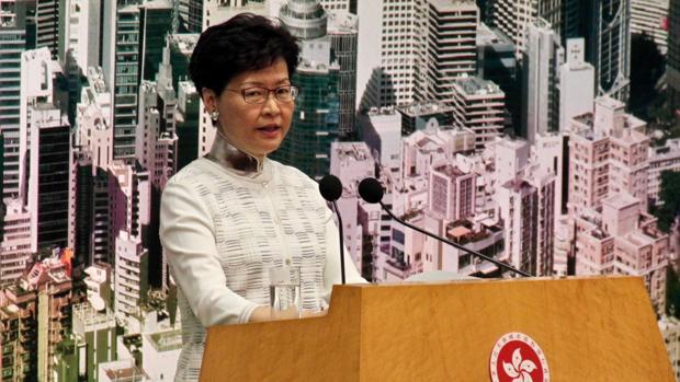 La jefa ejecutiva de Hong Kong, Carrie Lam