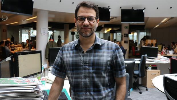 Javier Melero, en la redacción de ABC en Madrid