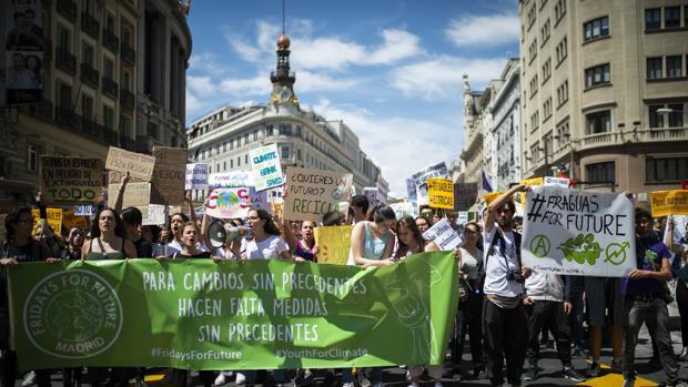 Manifestación en Madrid contra el cambio climático el pasado mes de mayo