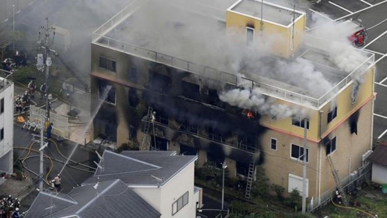 Se eleva a 33 los muertos por el incendio provocado en un estudio de animación de Japón