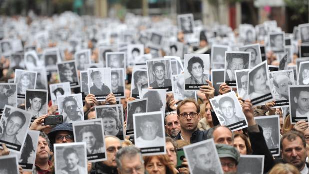 Acto conmmemorativo por los 25 años del atentado contra la mutua judía AMIA de Buenos Aires