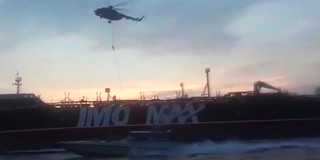 Irán difunde un vídeo de la captura del petrolero británico Stena Impero en el estrecho de Ormuz