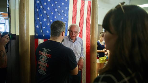 El senador Bernie Sanders, que se postula para la nominación demócrata para presidente de los Estados Unidos