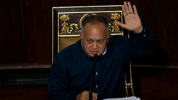 El presidente de la Asamblea Nacional Constituyente, Diosdado Cabello, la semana pasada