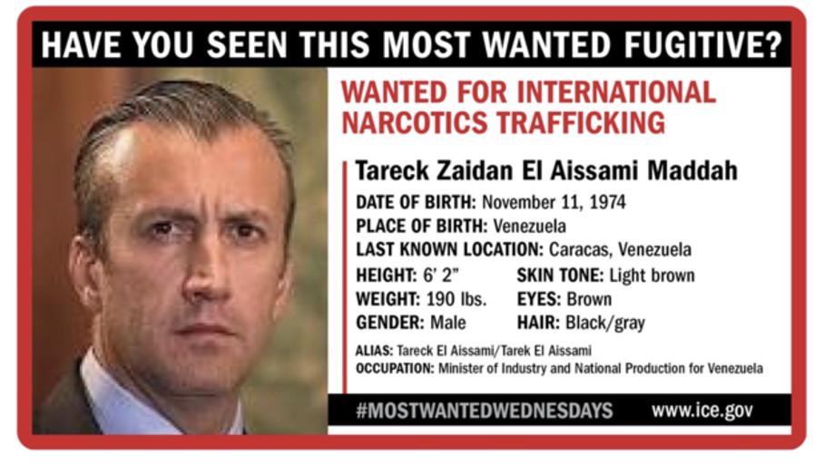 EE.UU. ofrecerá hasta 10 millones de dólares por pistas sobre el paradero de Tareck el Aissami