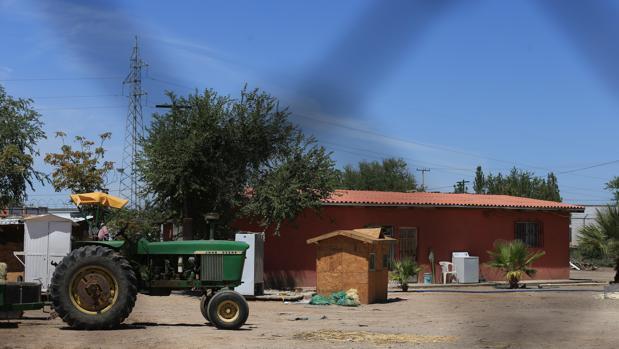 Vista general de la finca donde fueron asesinadas las pequeñas, en Ciudad Juárez