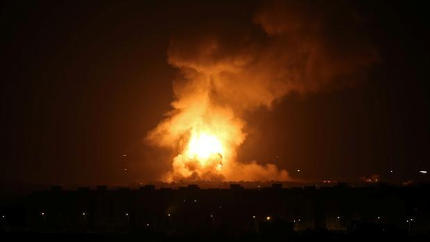 Imagen del bombardeo israelí en Gaza, esta noche