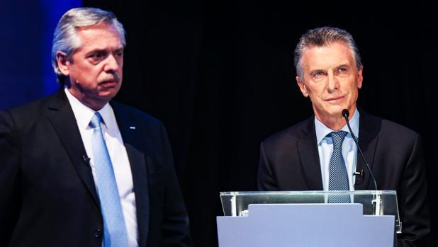 Macri y Fernández, ni vencedores ni vencidos en el primer debate presidencial en Argentina