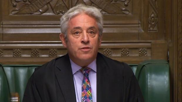 El presidente de la Cámara británica rechaza votar hoy el acuerdo del Brexit de Boris Johnson