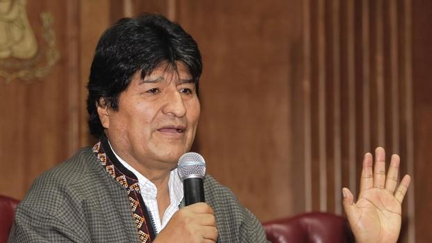 Evo Morales habla en la Asociación de la Prensa de Ciudad de México