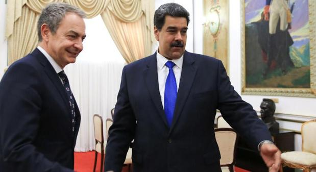 Rodríguez Zapatero, con Nicolás Maduro en una de las numerosas ocasiones en que ha visitado Caracas