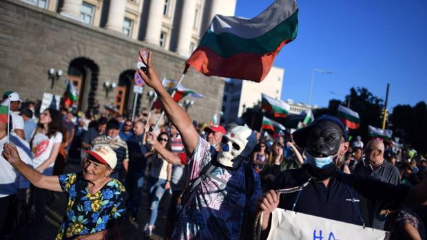 Cincuenta días de protestas en Bulgaria