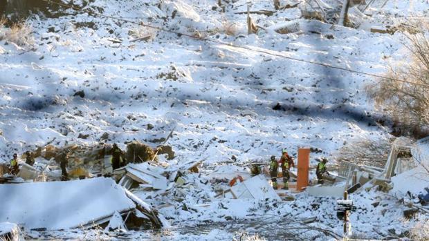Se elevan a seis los cadáveres rescatados tras el corrimiento de tierras en Noruega