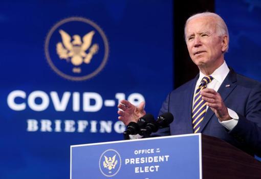 Joe Biden ofrece unas declaraciones desde Wilmington (Delaware)