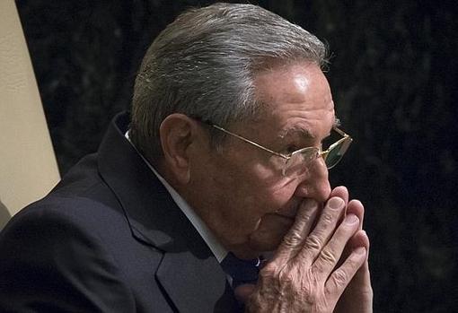El todavía primer secretario del Partido Comunista Cubano, Raúl Castro