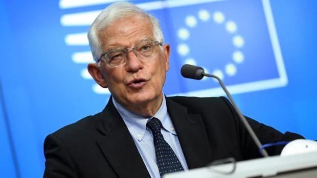 Josep Borrell, ayer durante una rueda de prensa en Bruselas