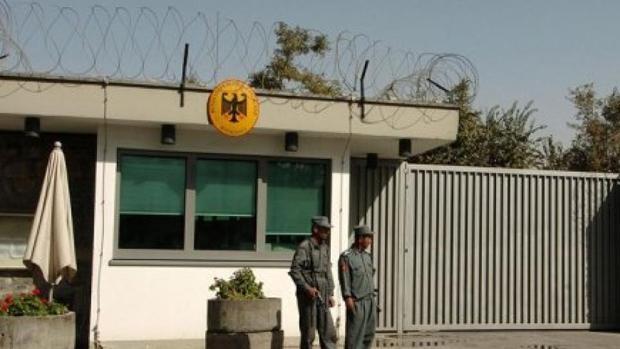 Fachada de la Embajada de Alemania en Kabul