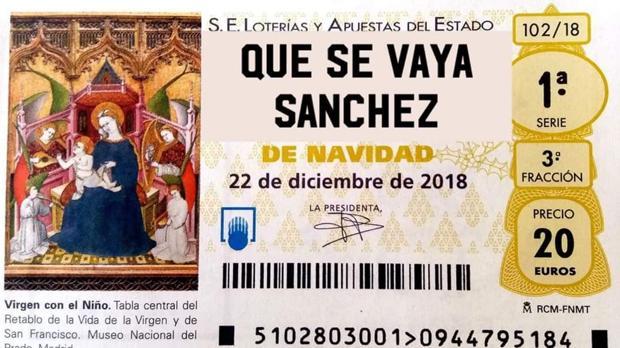 Que Se Vaya Sánchez El Décimo De La Lotería De Navidad Que Se Hace Viral En Twitter