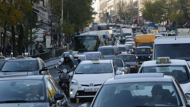 Imagen después de la aplicación de la segunda fase del plan anti contaminación en Madrid