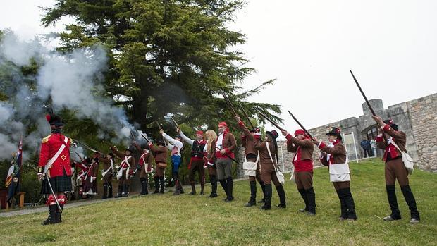 Recreación junto al Castillo de Burgos, uno de los escenarios de la Guerra de la Independencia
