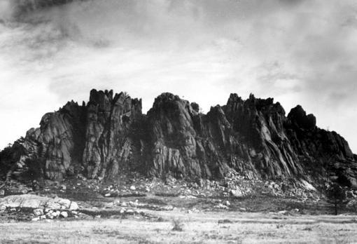Cuelgamuros en enero de 1940, antes de construirse el Valle de los Caídos