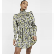 Vestido corto con estampado de cachemir multicolor Idol de Topshop