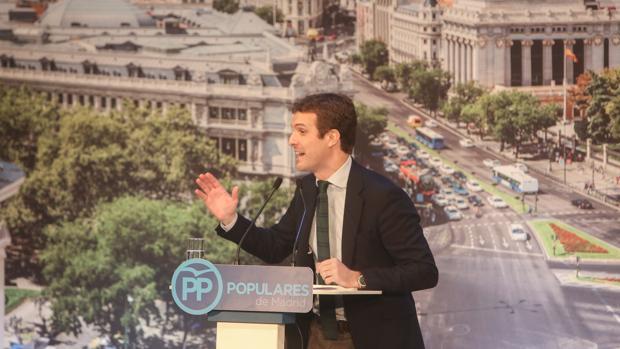 Pablo Casado en la presentación de los candidatos del PP de Madrid a las elecciones locales y autonómicas de 2019