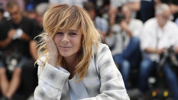 Emma Suárez, ayer en Cannes en la presentación de «Las Hijas de Abril»