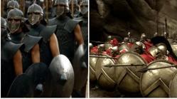 Inmaculados y guerreros espartanos